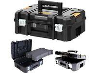 DeWalt 1-70-703 TSTAK II Toolbox Power Tool Case Flat Top with Pre-Cut Foam