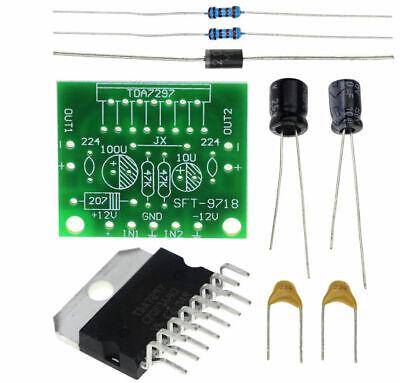 Dc 6-18v Tda7297 Power Amplifier Module Double Channel 10-50w 2x15w Us Seller