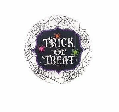 Halloween Lunch Or Dinner Plates Trick Or Treat Spiders and Spider Webs 12 Count (Halloween Lunch)