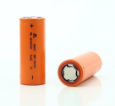 2 pack MNKE 26650 HIGH DRAIN  BATTERY 3.7v Rechargeable  Li-Mn 3500mAh