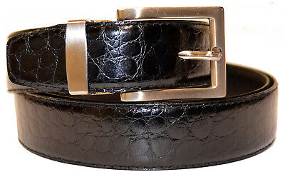 New Mens Black Baby Alligator Print Genuine Leather Classic Nice Fashion Belt Alligator Print Leather Belt
