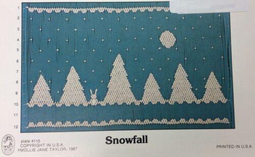 MOLLIE JANE TAYLOR SMOCKING PLATE #115 SNOWFALL