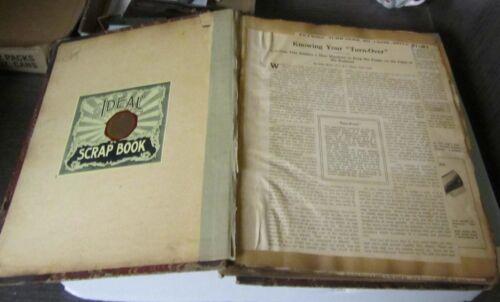 WWI Era Pyle Family Shoe Business Scrapbook Styles Advertisements Articles 60pg