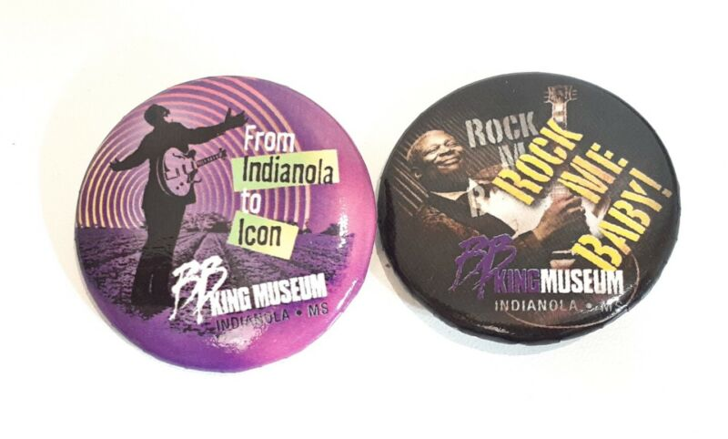 2 Bb King Museum Pins