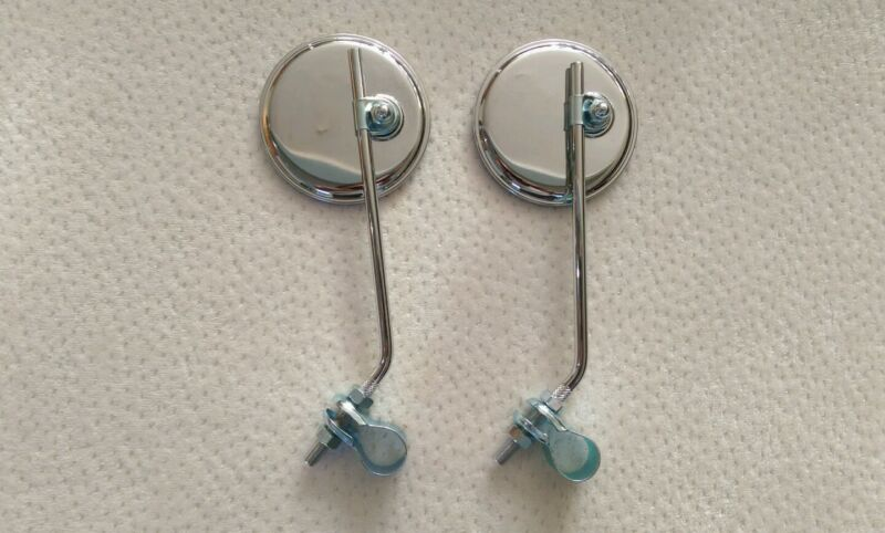 A PAIR OF BICYCLE ROUND MIRROR WITH NO REFLECTOR LOWRIDER BMX BEACH CRUISER
