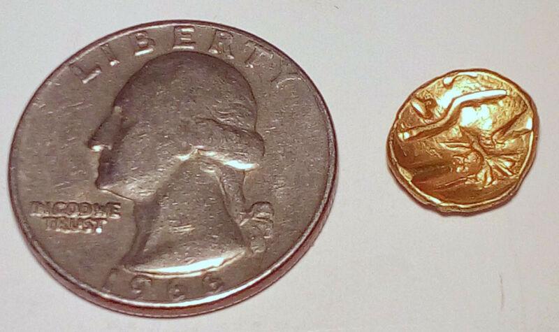 Celtic Gold 1/4 Stater D Geometric Type, 1.45g