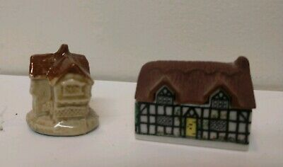 Nice pair of Vintage Wade England Ceramic Houses ~ Cottage House / Jack Moxx for sale  Shipping to Ireland
