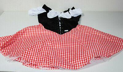Smi - Fever Damen Kostüm Dirndl Rotkäppchen Karneval Fasching Gr.M (Q254-R8)