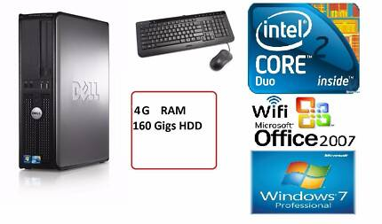 Dell Optiplex 780 Core2Duo 3 Ghz 4Gigs RAM 160 HDD WiFi Win 7 Thomastown Whittlesea Area Preview