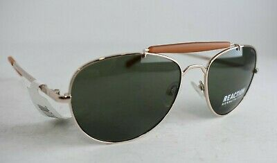 KENNETH COLE REACTION KC2863 Gold/Green Aviator Sunglasses