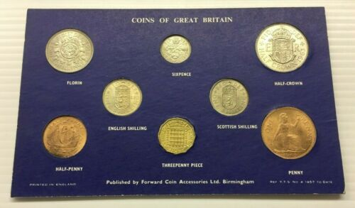 COINS OF GREAT BRITAIN PRE DECIMAL SET * FREE SHIP