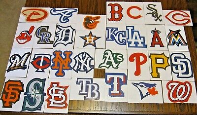 NEW MLB Logo Stickers PICK ANY TEAM! Baseball Decal Peel & Stick Paper Sticker - Baseball Stickers