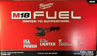Milwaukee 2785-20 18 Volt Fuel Brushless 7- 9 Cordless Angle Grinder New In Box