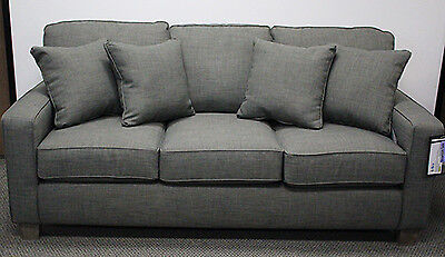 Best Furniture 3 Seat Fabric Sofa w/ Accent