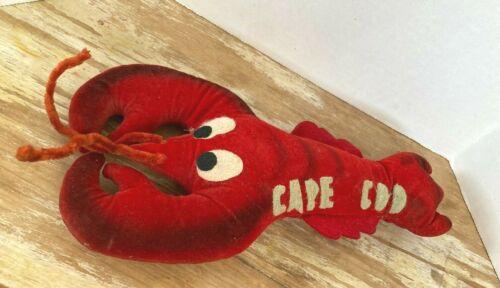 Vintage Cape Cod tourist souvenir lobster stuffed animal doll 1960