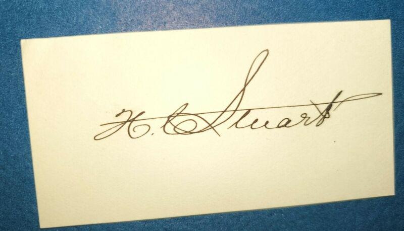 Henry Carter Stewart signature Governor Virginia 1914-1918