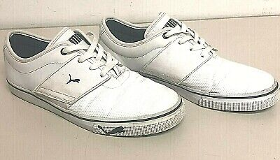 Mens, PUMA, Sports Lifestyle, Low Top, White, Lace Up, Casual Shoes, Size 9.5