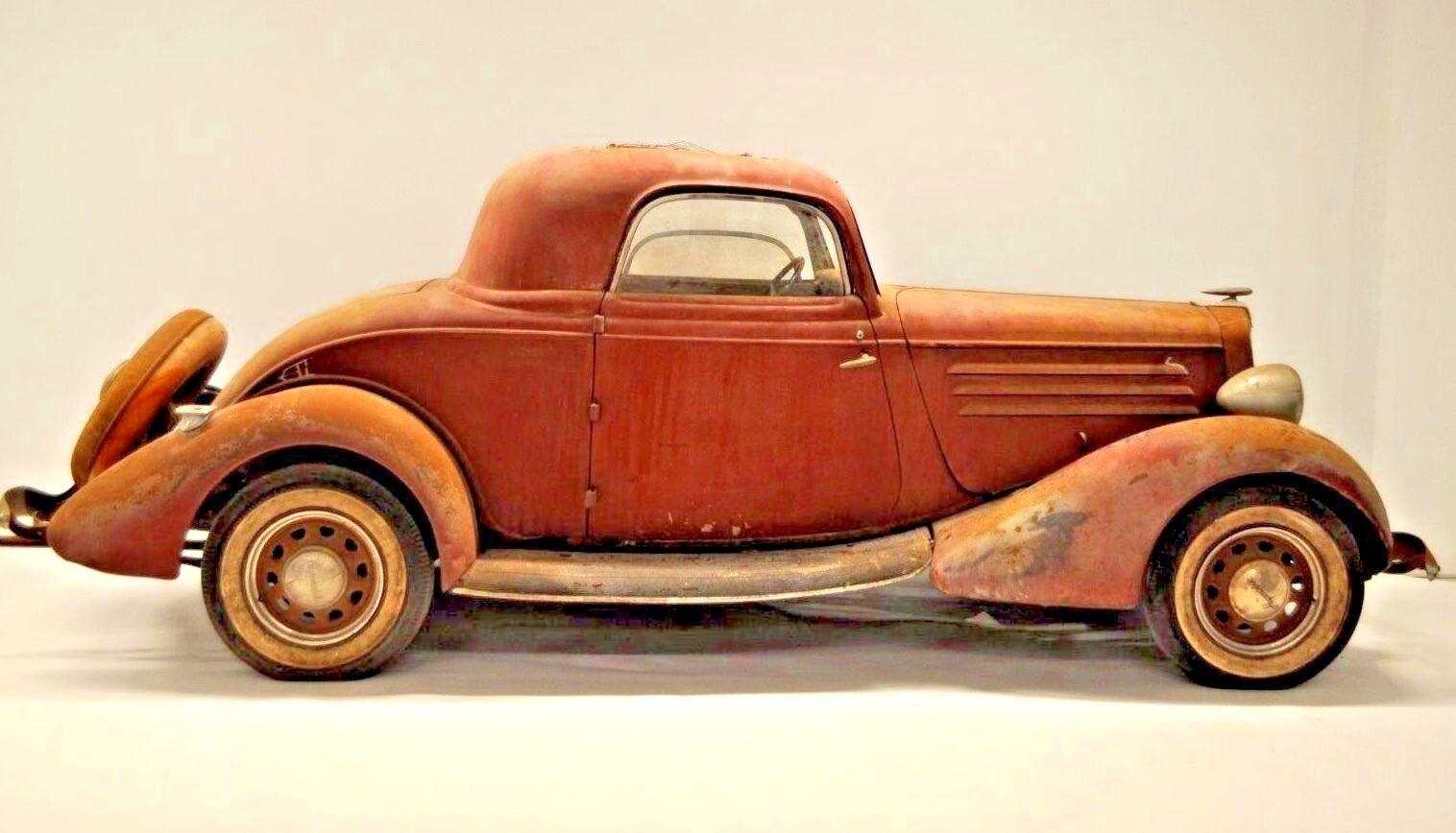 1934 Hupmobile 3 Window Coupe 417w 417 517 W Barn Find Hot