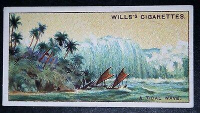 TSUNAMI    Tidal Wave      Vintage Colour Card # VGC