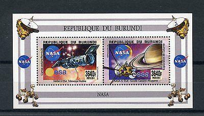 Burundi 2014 MNH NASA ESA Telescopes & Probes 2v M/S Space Hubble Saturn