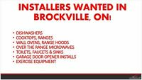 Installers wanted in Brockville, ON