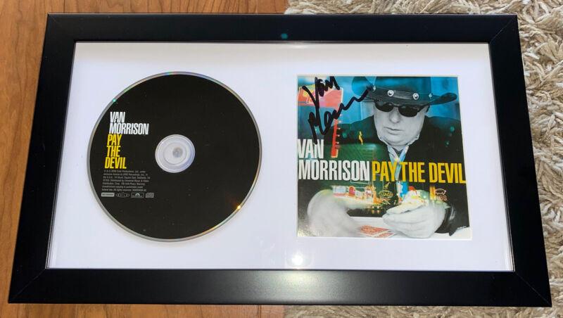 Van Morrison Signed Framed CD Pay The Devil Proof
