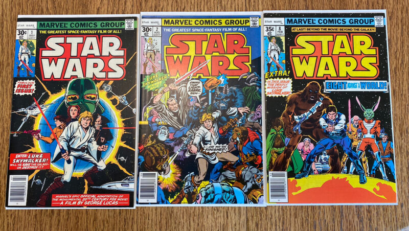 Star Wars #1, #2, And #8! 1st Prints 1977! 1st Appearance Keys! Marvel