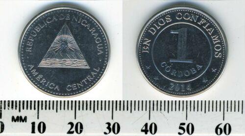Nicaragua 1 Cordoba, 2014 Nickel Clad Steel Coin