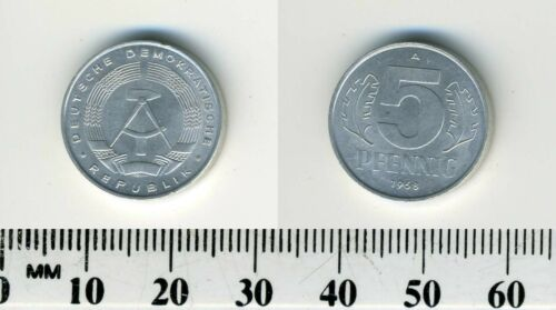 German-democratic Republic 1968 A - 5 Pfennig Aluminum Coin - Berlin mint