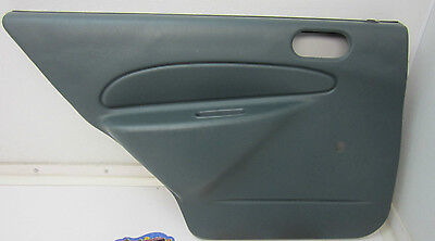 97-02 ESCORT TRACER LEFT BACK REAR DOOR PANEL DRIVER SIDE CAR GREEN L LH LR OEM Green Ford Grips