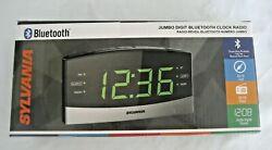 Sylvania SCR1989BT Dual Alarm Bluetooth AM/FM Clock Radio Jumbo Digit Display
