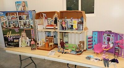 Barbie Disney Hannah Montana Malibu Beach Doll House Secret Closet ETC. Lot