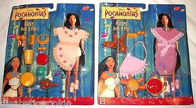 Neuer DISNEY'S Winter Tanz Kleid 'n Play Set Of 2 Zwei Pocahontas Puppe Mattel