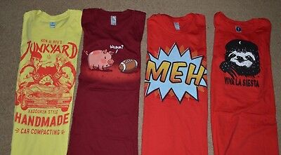 Unworn Shirt Woot  Shirt Woot Graphic T Shirt Womens Small Lot Of 4  Pop Culture