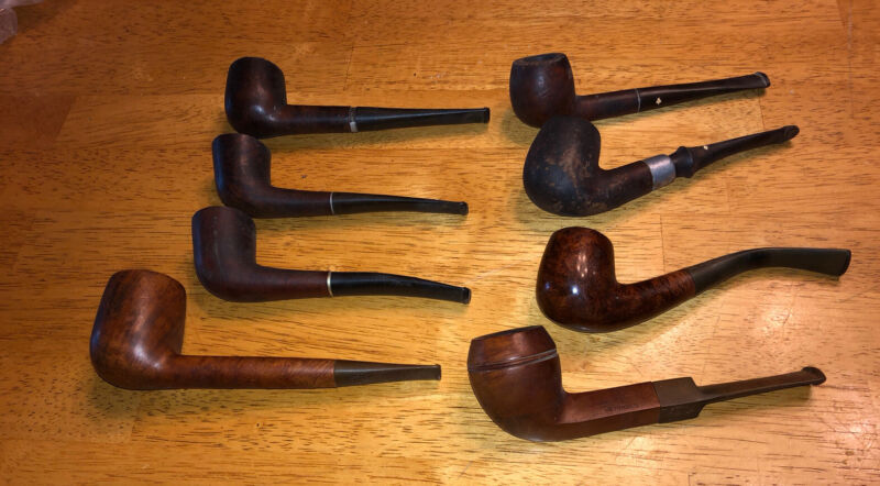 LOT OF (8) VINTAGE ESTATE TOBACCO PIPES KAY WOODIE, WALLY FRANK, ARNOLDS, ETC.