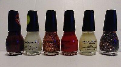 Sinful Colors HALLOWEEN THEMED VARIETY SET Nail Polish 6 Different Glow & More - Halloween Nail Polish Set