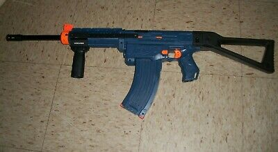 Modified NERF RETALIATOR gun w WORKER Pump handle Stock and Barrel