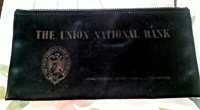 Vintage Union National Bank Pittsburgh PA Deposit Bag made by Strayer Corp.