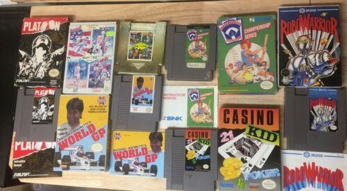 Lot of 6 Nintendo NES Games in Box Platoon Andretti Little League Robowarrior