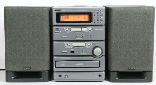Denon D-C1 Micro Component HiFi Audio System 6 CD AM/FM Cassette Bookshelf WORKS