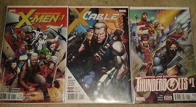 MARVEL COMICS | 3 x ISSUE 1 - ASTONISHING X-MEN, CABLE, THUNDERBOLTS