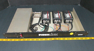 Fiberlink Fiber Optic Transmission System Math Associates Multichannel Rack -