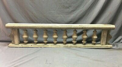 Antique Victorian Porch Gingerbread Spindle Span Gray Architectural Old 811-20B