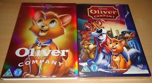 Oliver And Company DISNEY #27 DVD & LIMITED EDITION O RING SLIP COVER SLEEVE NEW