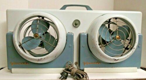 Vintage Vornado Twin Head Fan Model # 32TW1-1 With Removable Fans *WORKS* ATOMIC
