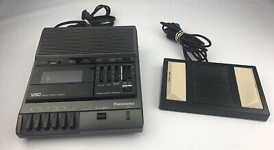 Panasonic Rr-830 Standard Cassette Transcriber With Rp-2692 Foot Pedal Tested