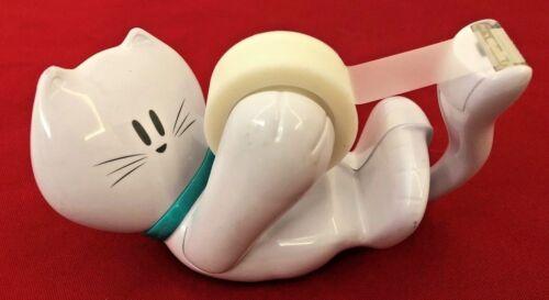 """White 6"""" Cat Figure Scotch Tape Dispenser"""