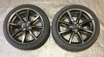 (2016-2017 Mazda MX5 Miata Club Package Wheels w Bridgestone Tires / 17x7 / ND007)