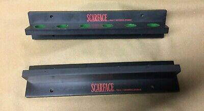 Scarface Logo 6 cue Holder Pool Cue Wall Rack - Black Cue Rack