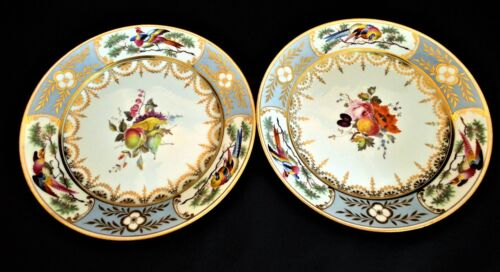 A Very Rare C19th Chamberlains Worcester Moulded and Finely Gilded Plate - 1820